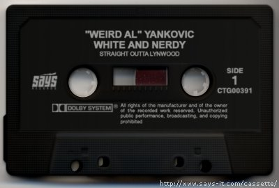 White and Nerdy cassette